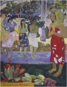 Reproduction tableau de Paul Gauguin : Ia Orana Maria